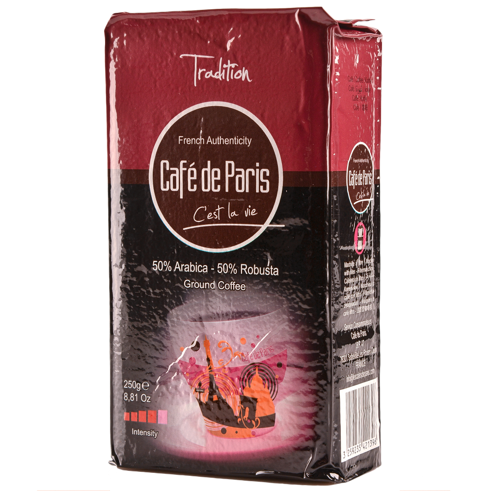 Кофе молотый Cafe de Paris Tradition 50% Арабика/50% Робуста 250г (3259235421396) Segafredo Zanetti - 2