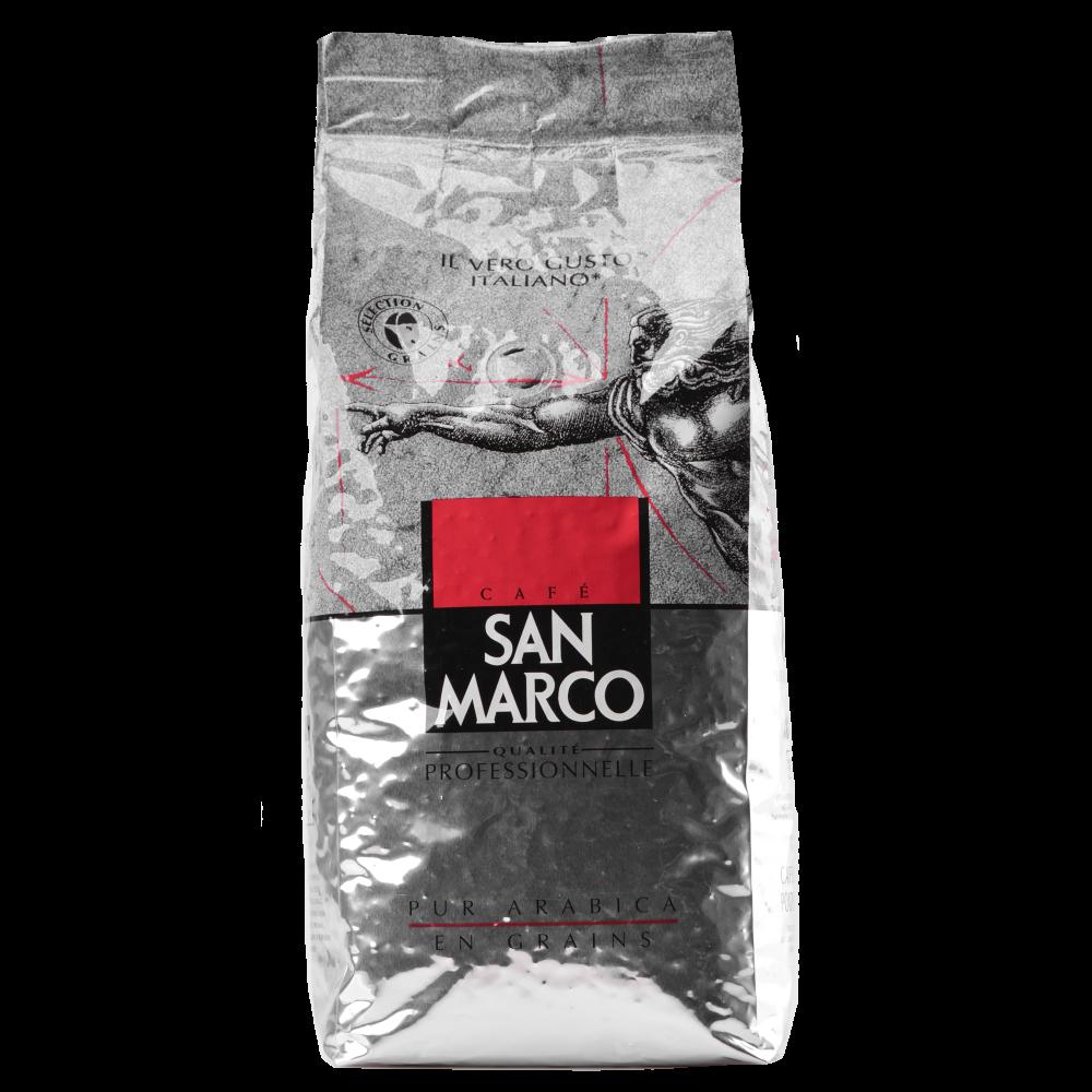 Кофе в зернах San Marco 100% Арабика 1 кг (3259234213008) Segafredo Zanetti - 1