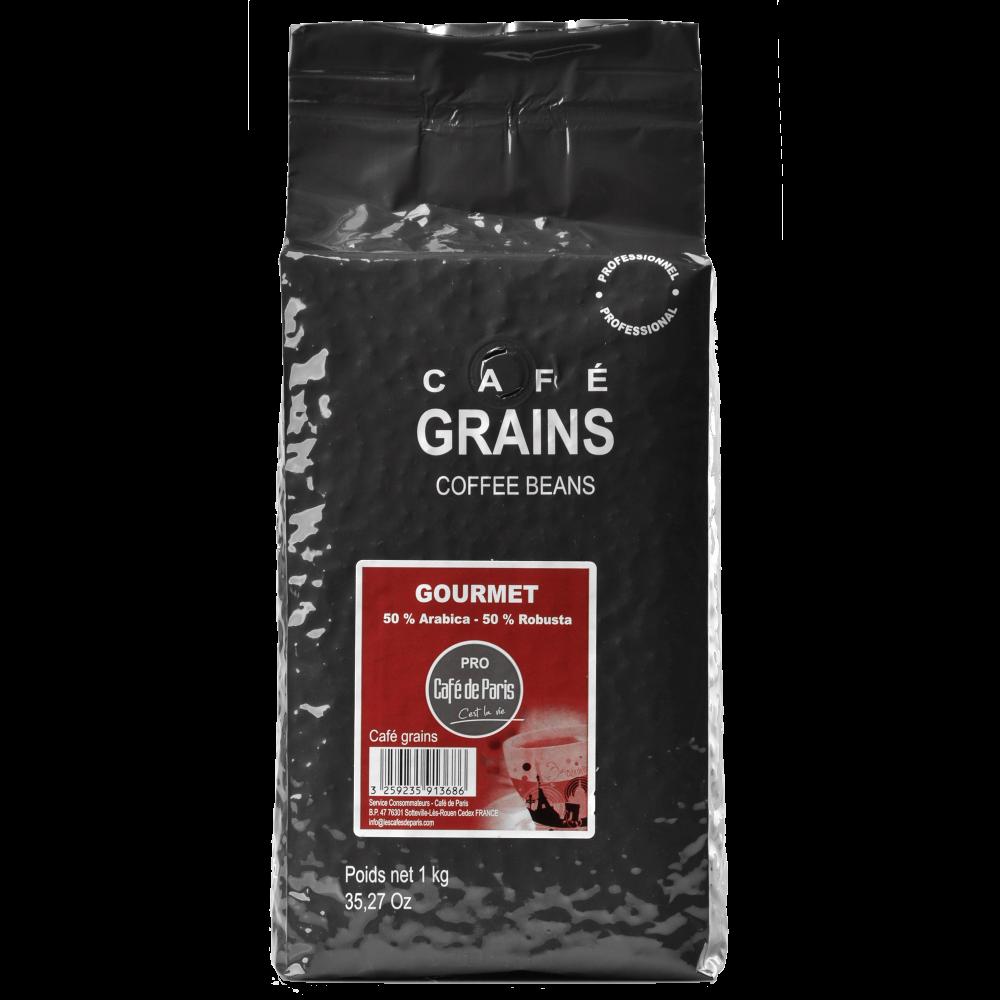Кофе в зернах Cafe de Paris GOURMET 50% Арабика/ 50% Робуста1кг  (3259235913686) Segafredo Zanetti - 1