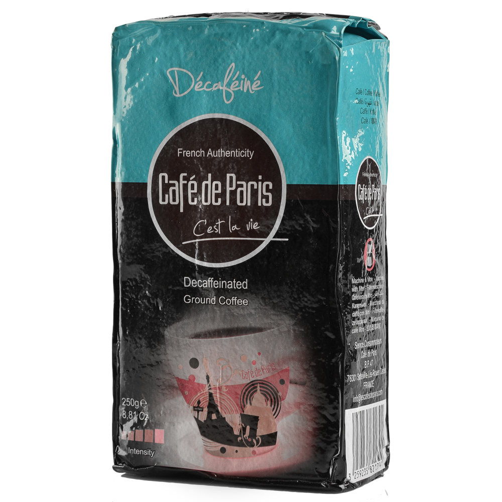Кофе молотый без кофеина Cafe de Paris Decafeine 100% Робуста 250г (3259235821394) Segafredo Zanetti - 2