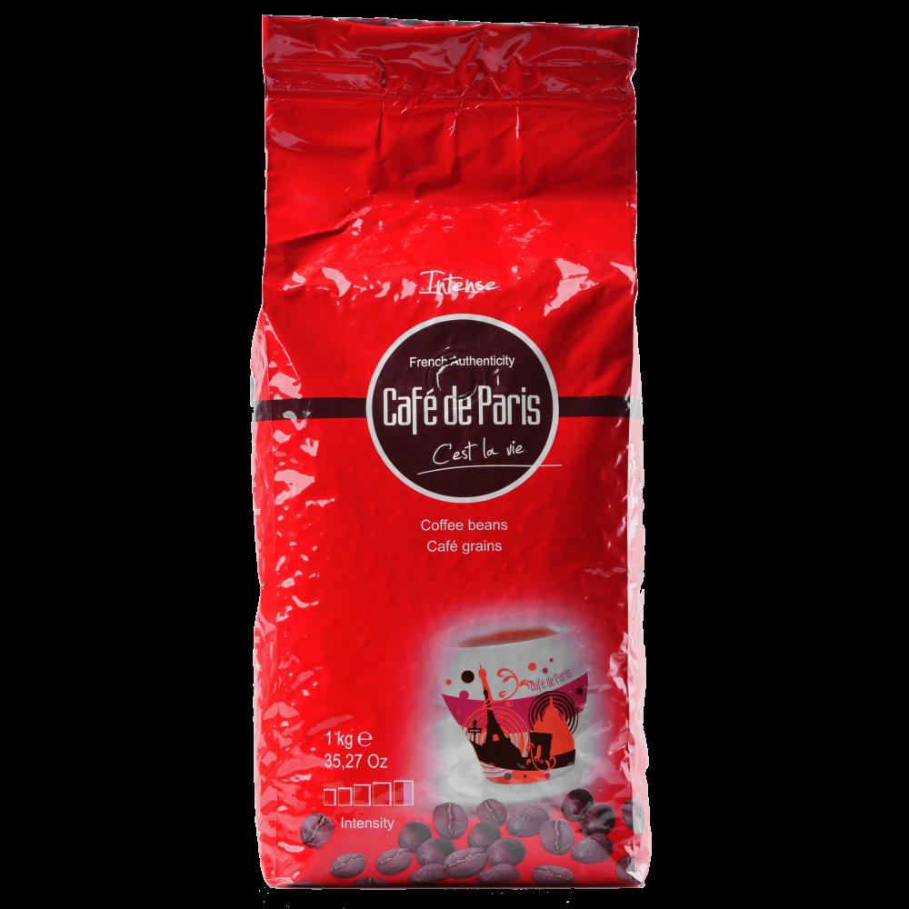 Кофе в зернах Cafe de Paris INTENSE 100% Робуста 1кг (3259235713392) Segafredo Zanetti - 1