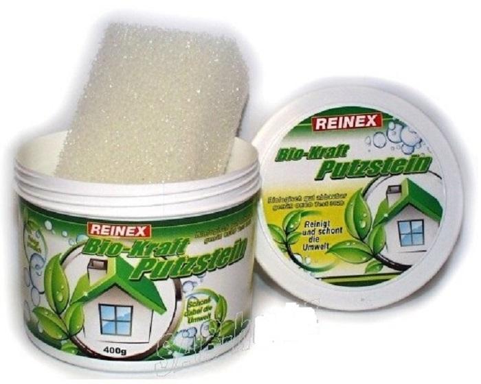 Чистящая универсальная паста для поверхностей  с губкой Reinex Bio-Kraft Putzstein 400 г (4068400020291) - 1