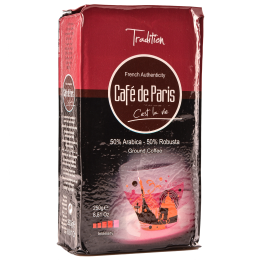 Кофе молотый Cafe de Paris Tradition 50% Арабика/50% Робуста 250г (3259235421396) Segafredo Zanetti